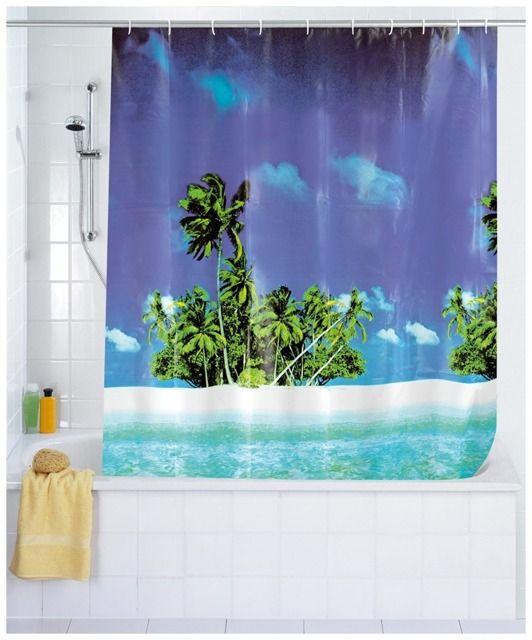 Zasłona prysznicowa Palm Beach, PEVA, 180x200 cm, WENKO
