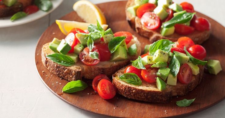 Prefer a light breakfast? Start your day with this fresh and cheerful bruschetta.