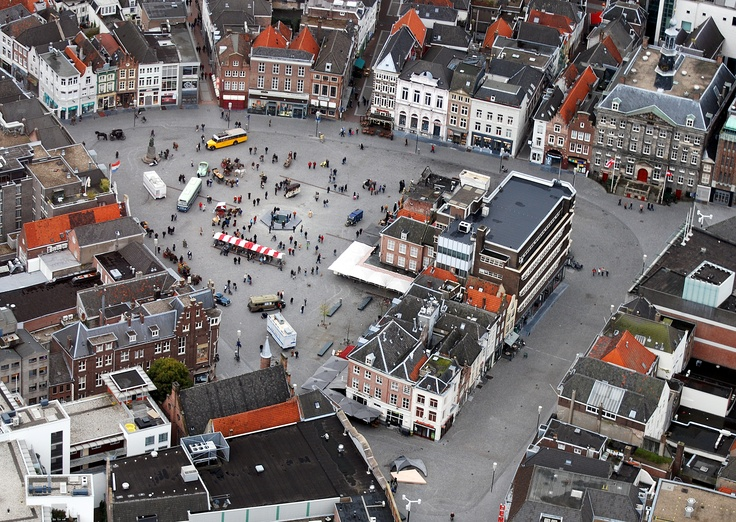 Helicopter ride over the old city centre of 's-Hertogenbosch The Netherlands