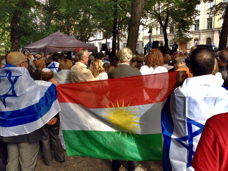 Kurds supporting Israel on Manifestation Stockholm Sweden 31 Aug 2014