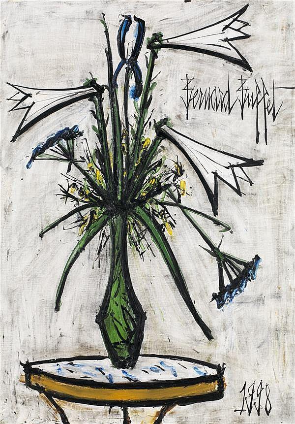 'Lys et iris dans un vase de Gallé' (1998) by Bernard Buffet