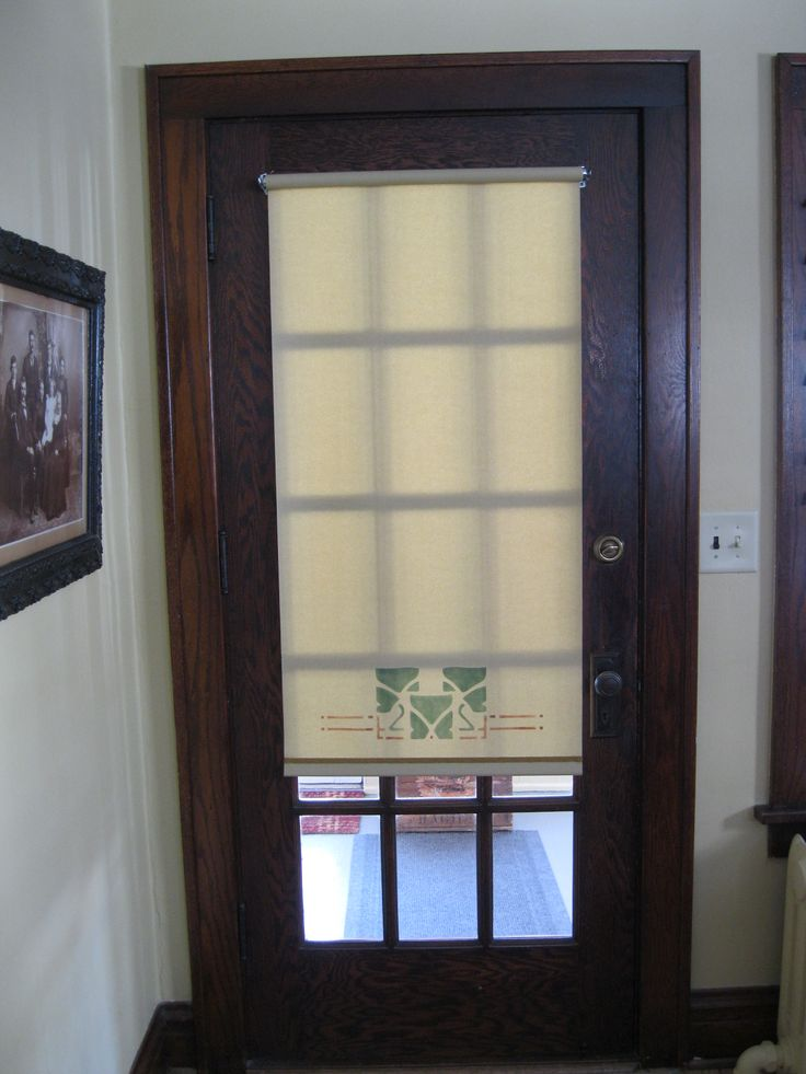 12 best door glass coverings images on pinterest shades for Glass door in front of exterior door