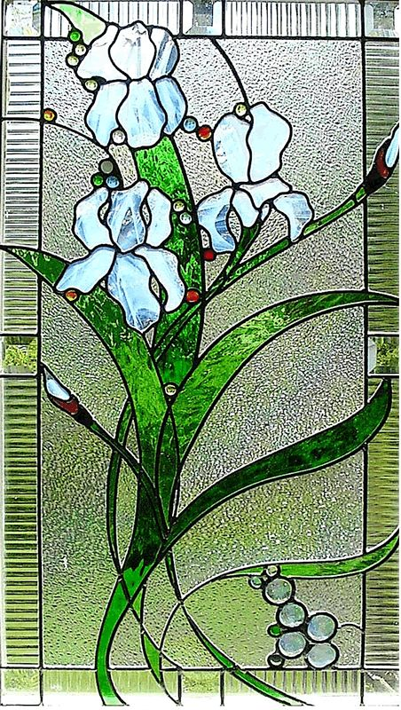 iris - stained glass
