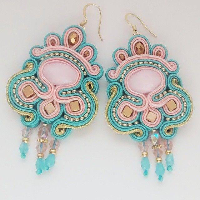 #summer#soutache#earrings