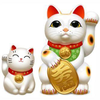 El Gato de la suerte japonés Maneki Neko. ¿Vieron ese gato amarillo que mueve el brazo derecho y está en todos los supermercados chinos? Bueno, se llama Maneki Neko y la historia ta buena, porque si viene de Japón debe tener, mínimo, mil años....
