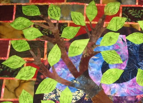 Tree of Life Wedding Guest Book Quilt (img heavy) - QUILTING