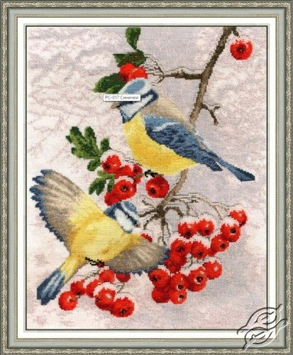 Titmice - Cross Stitch Kits by ZOLOTOE RUNO - RS-017