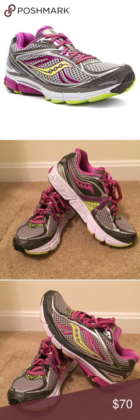 🆕Listing! Saucony Omni 12 Running Shoes Stability is the name of the game with the Saucony Omni 12. This high mileage trainer features a flexible dual density midsole to offer maximum support without impeding on a smooth ride. A cushioned platform protects you from the ground, while a breathable upper offers an excellent fit for lasting comfort. Only worn a handful of times. Still in excellent condition with lots of life left! 🚫TRADES Saucony Shoes