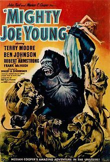 """A """"King Kong"""" knockoff by the people behind the original! When Joe is discovered, man wants him to star in a live show. Only one beauty (Terry Moore) can hope to tame this beast, and nothing can tame Joe Young!"""