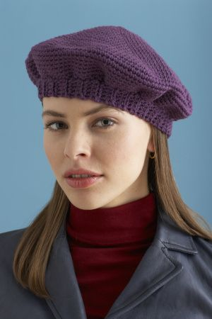 Knit Beret Hat Pattern Easy : Best 25+ Crochet beret pattern ideas on Pinterest ...