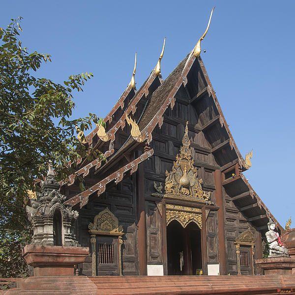2013 Photograph, Wat Phan Tao Phra Wiharn, Tambon Phra Sing, Mueang Chiang Mai District, Chiang Mai Province, Thailand. © 2013.  ภาพถ่าย ๒๕๕๖ วัดพันเตา พระวิหาร ตำบลพระสิงห์ เมืองเชียงใหม่ จังหวัดเชียงใหม่ ประเทศไทย