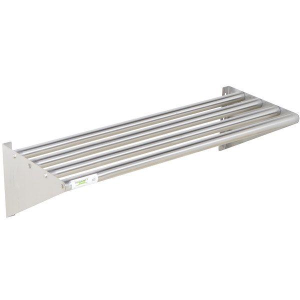 Regency 16 X 36 Stainless Steel Tubular Wall Mounted Shelf