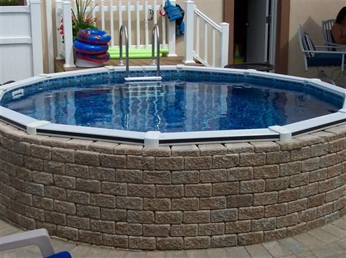 25 best ideas about above ground pool landscaping on for Above ground pool decks las vegas