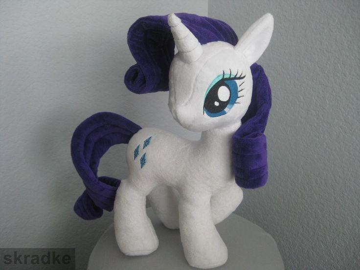 MLP Plush Patterns | Rarity custom plush - using new pony body pattern by GreenTeaPlushies