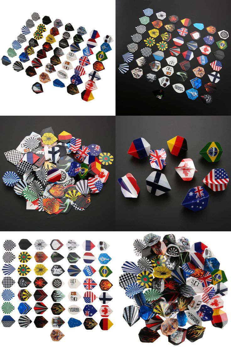[Visit to Buy] 150Pcs/ Lot Dart Flights 50 Sets Different Kinds of Patterns New Darts Fin Feather Accessories High Quality Darts Flights Dardos #Advertisement