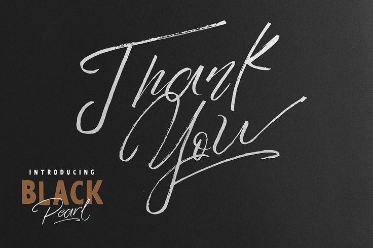 Black Pearl Font on Behance