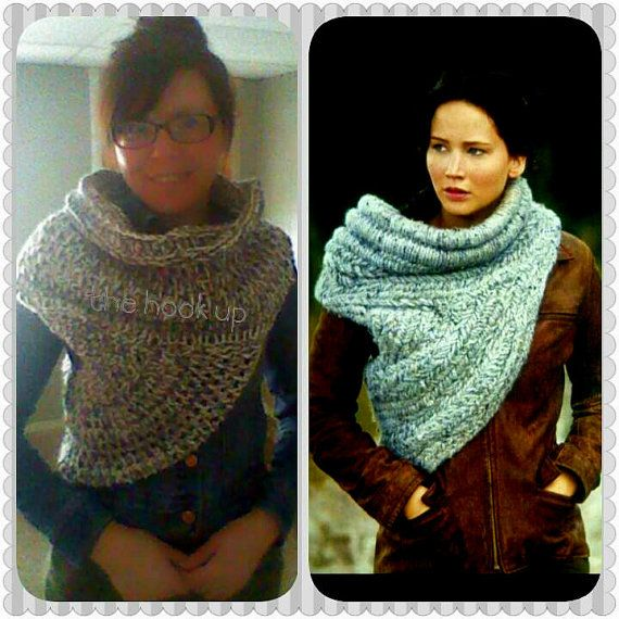 PATTERN ONLY! Catching Fire Scarf | Hunger Games Scarf | Katniss Everdeen Scarf | Katniss Cowl |District 12 Scarf CROCHET pattern!