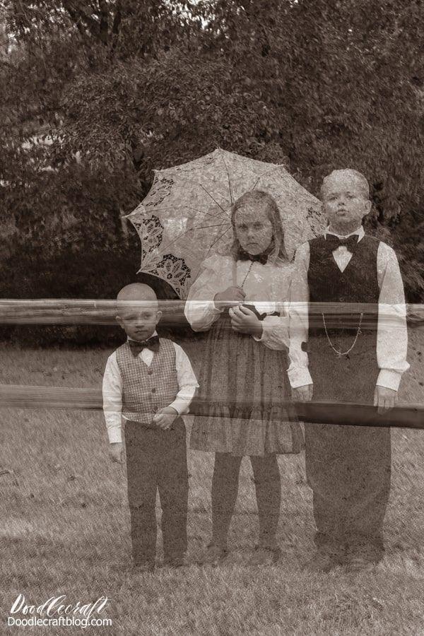 Ghost Cameras Halloween 2020 Victorian Ghost Children Halloween Photograph Editing Tutorial in
