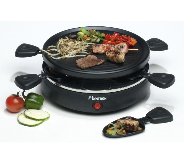 raclette grill 6 po lons bestron cooking d e s i g n pinterest fondue. Black Bedroom Furniture Sets. Home Design Ideas