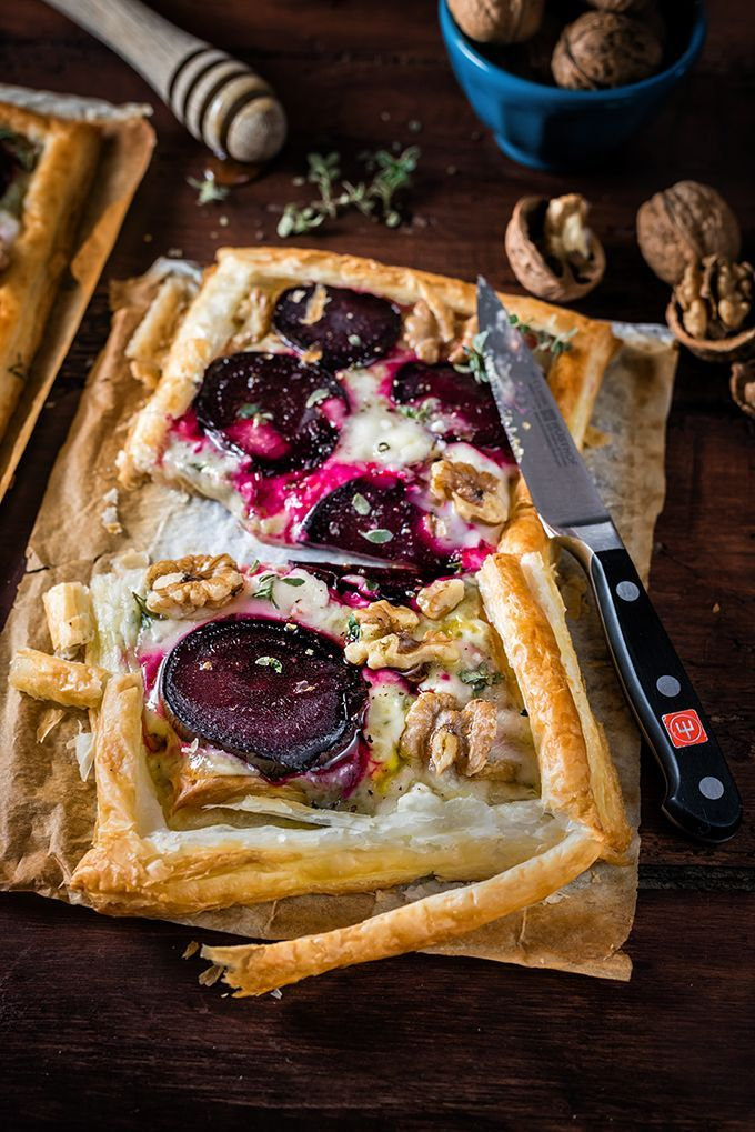 This super-easy goat's cheese and beetroot puff pastry tart makes a ...
