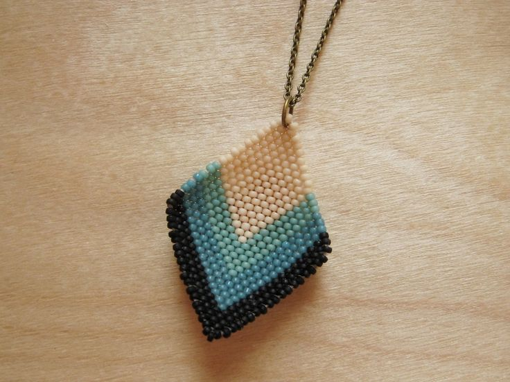 Beaded Diamond Pendant - How Did You Make This? | Luxe DIY