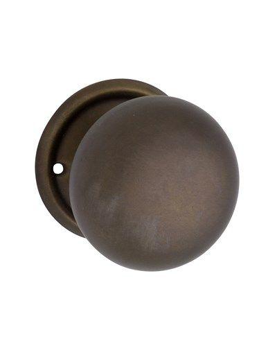Antique Brass Rim Lock Door Knob Plain Dummy (Singular)