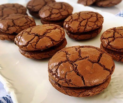 Sandwich Brownie Cookie Rezept