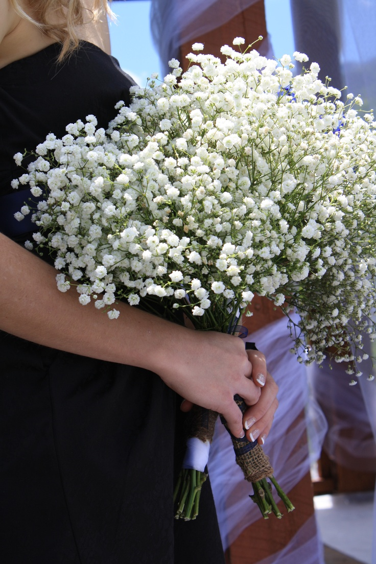 Brides Maids Bouquet Easy To Make With Baby S Breath