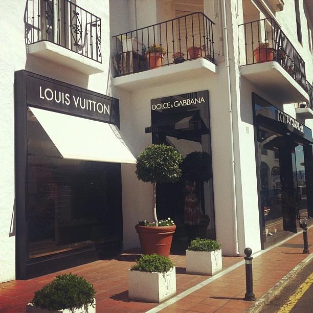 Some of the luxury brands in Puerto Banus, Marbella, Spain