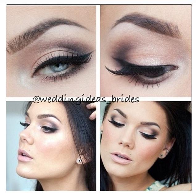 Idea for the bride makeup