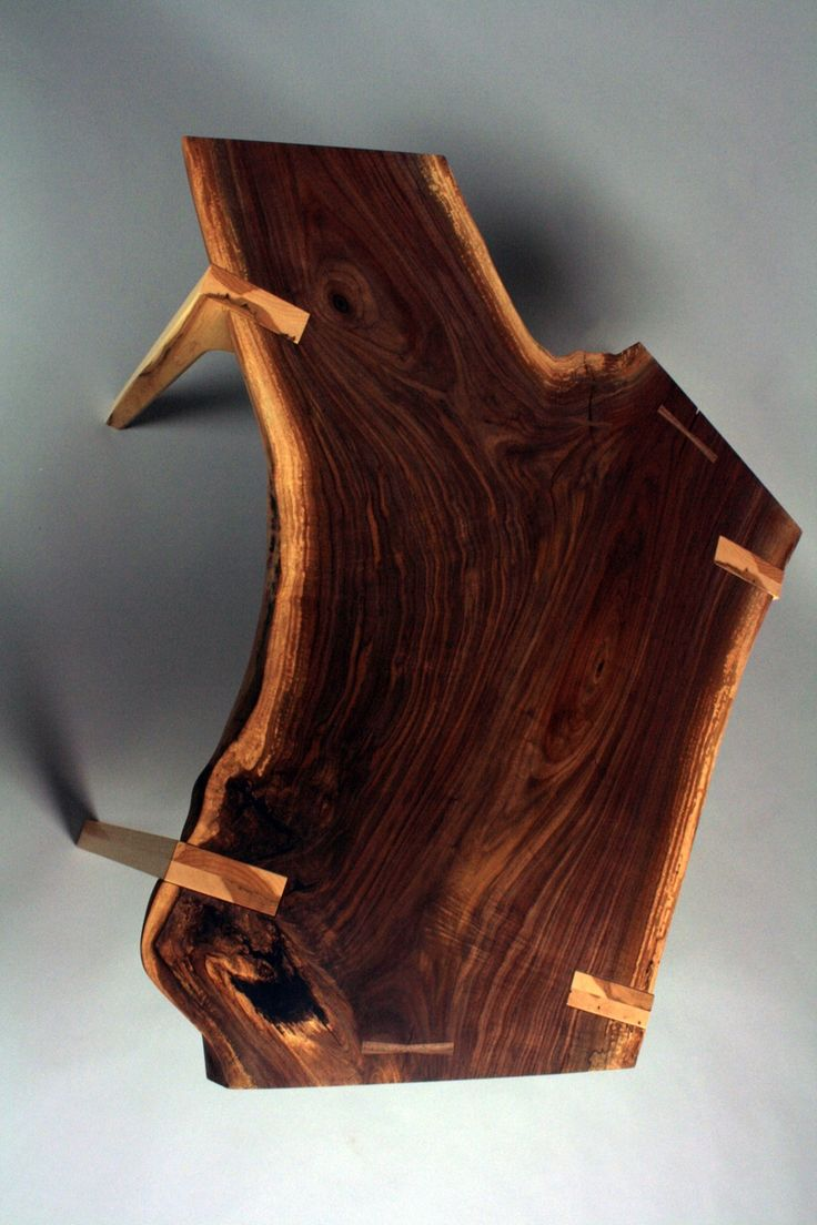 This beautiful piece of walnut came from an expropriated piece of land where the road was increased in width. The owner was able to keep the tree and have a portable saw mill come a cut into boards...