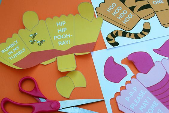 Printable Pooh Bear Birthday | Winnie The Pooh Free Printables Popcorn Boxes for Pooh Tigger and ...