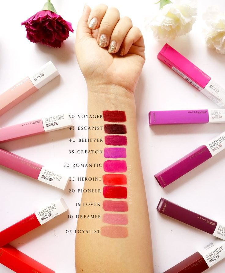 Maybelline SuperStay Matte Ink Swatches | Maybelline super