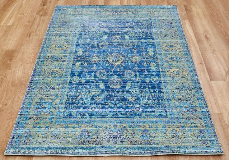 Heado Blue Rug - Aqua Silk Rugs - Classic Rugs