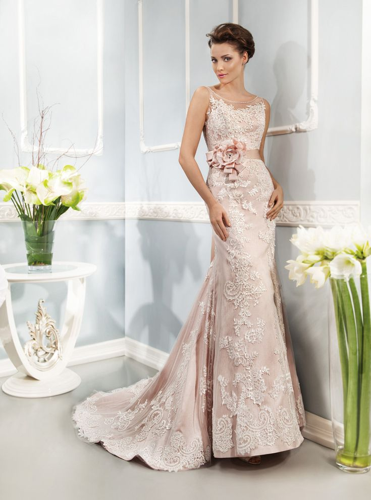 Lace Wedding Dresses Newcastle : Style lace over tulle white pink gold blue