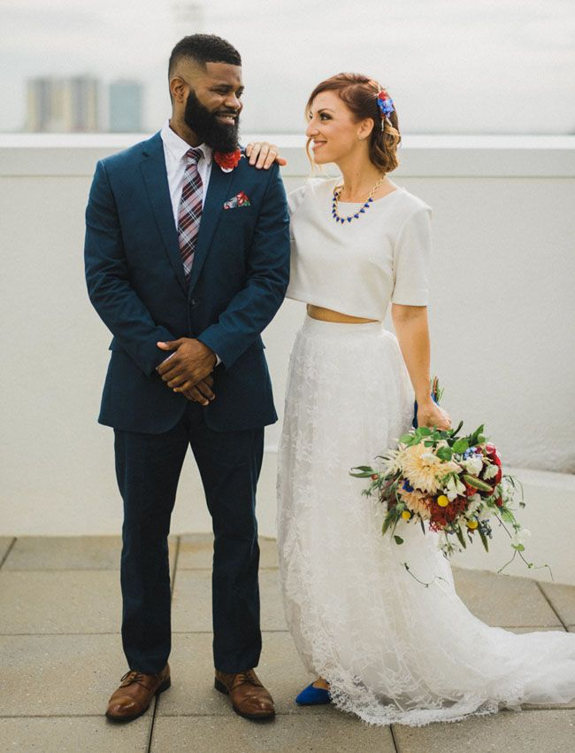 Patriotic Courthouse wedding