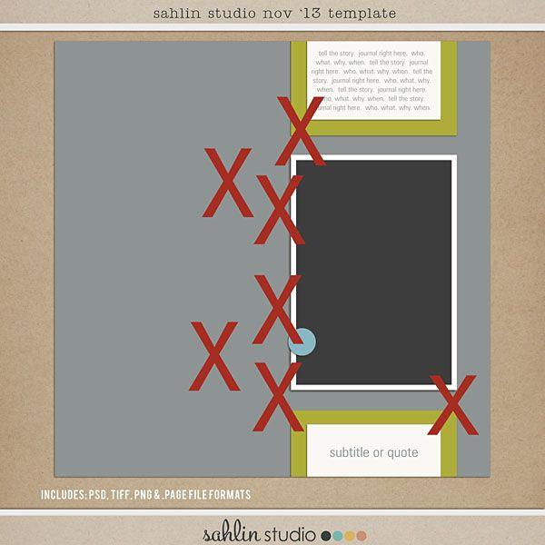 Nov 2013 Digital Scrapbooking FREE Template