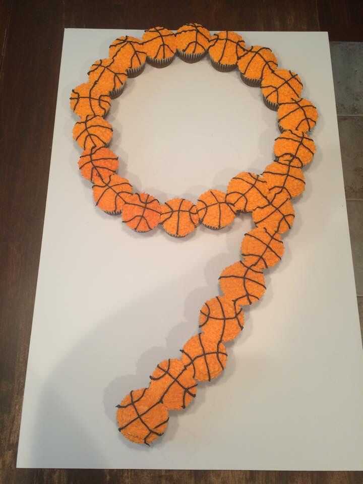 9th Birthday Basketball Cupcake Cake