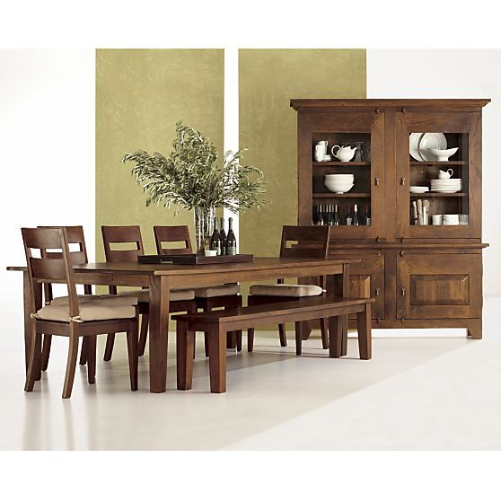 Basque Honey Buffet With Hutch Top Dining Table