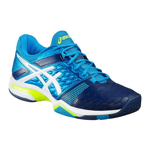 Buy Asics Gel-Blast 7 Shoes for mens for Badminton, Squash, Volleyball. Available in Blue Jewel/White/Safety Yellow on ATR Sports. Order now!