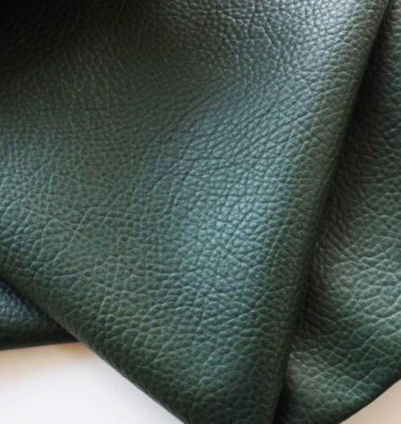Dark Green Leatherette Sheet  A4  8X11  A5 Size Green Faux