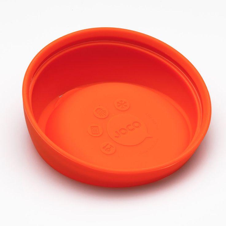 Gobelet réutilisable en verre de couleur orange. En vente sur L'emballage Vert!