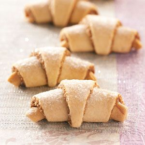 Walnut Horn Cookies Recipe from Taste of Home -- Loretta Stokes of Philadelphia, Pennsylvia