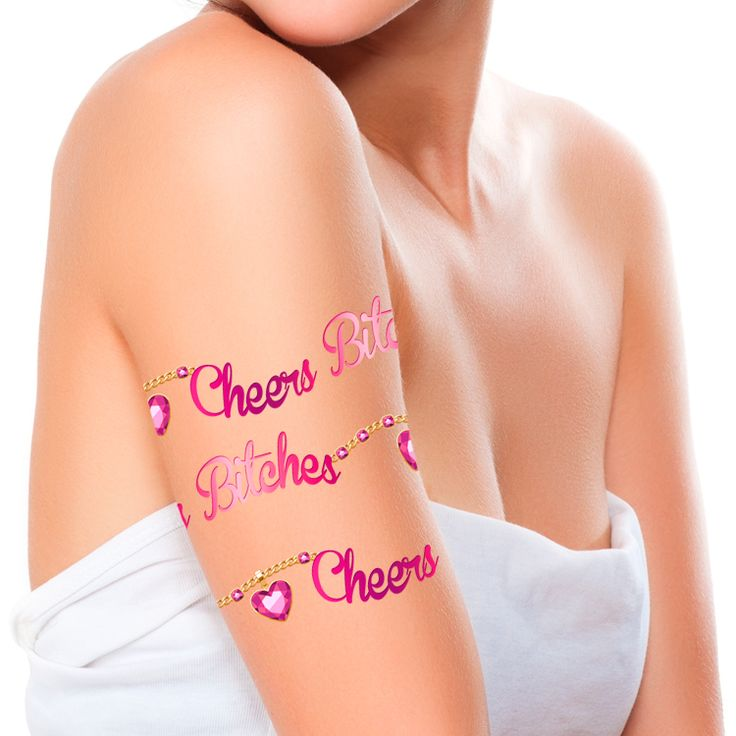 Cheers Bitches Armband Temporary Tattoo #38 (15 pack)