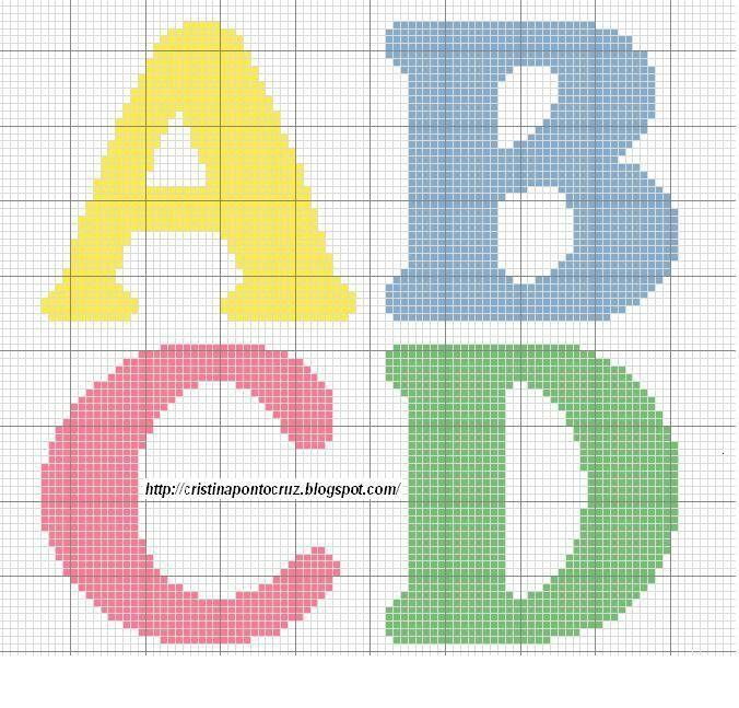 Alfabeto A - D letras