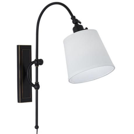 emerson bronze adjustable arc plug in wall lamp camp basics pinterest plugs colors and lamps. Black Bedroom Furniture Sets. Home Design Ideas