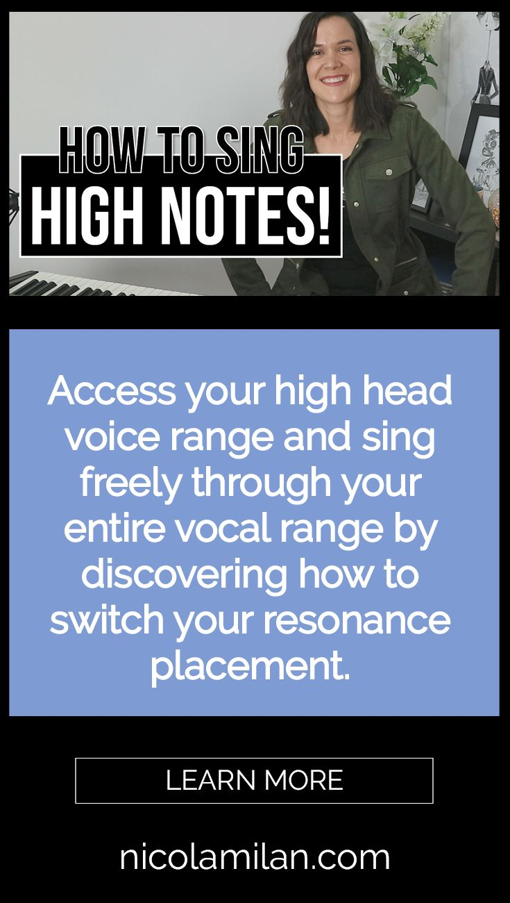 How To Sing High Notes (With images) Singing, The voice