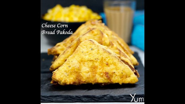 Cheese Corn Bread Pakoda | Cheese Corn Bread Pakoda recipe | corn cheese...