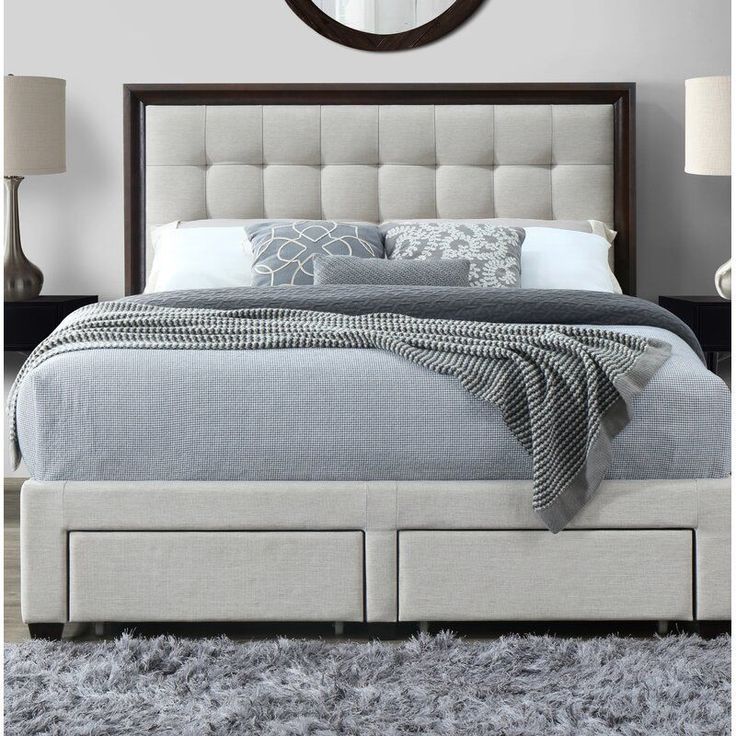 Abril Queen Tufted Upholstered Storage Standard Bed in