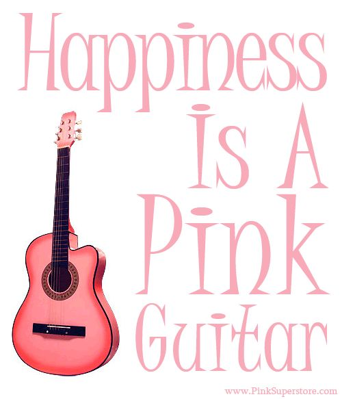 Happiness Is A Pink Guitar!